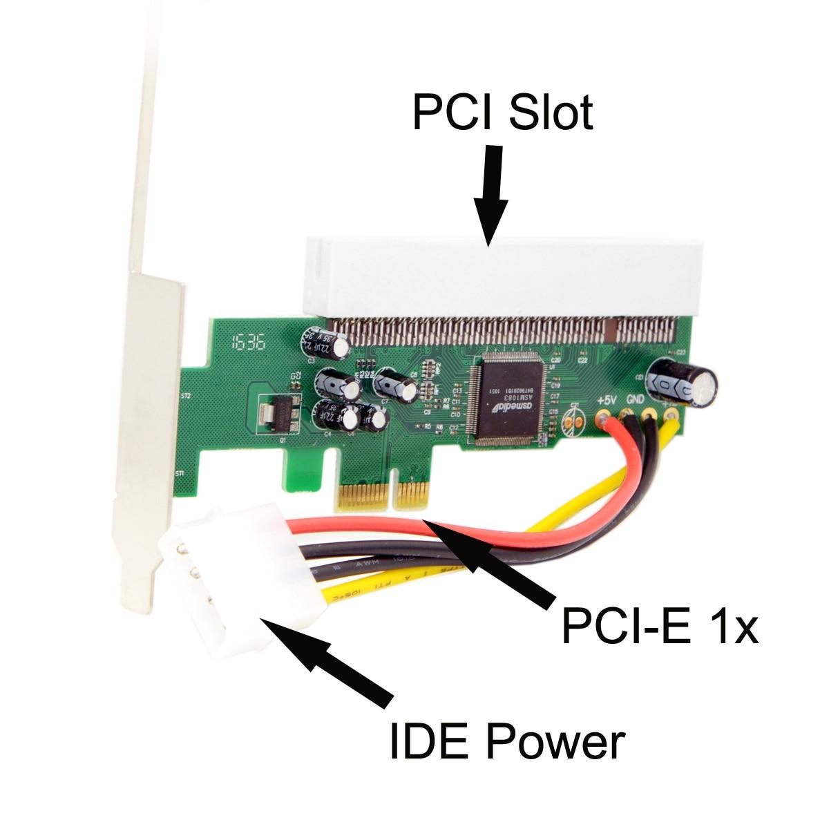 10 pièces/lot CY pci-express PCIE PCI-E X1 X4 X8 X16 à PCI Bus Riser carte convertisseur adaptateur haute efficacité