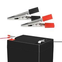 5 шт. зажимы типа Аллигатор пластиковая ручка тестовый зонд металлические зажимы типа Аллигатор соединитель зажим типа крокодил Соединительный разъем для аккумулятора
