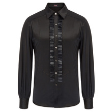 clothes Men Steampunk Gothic party evening clubwear formal shirts
