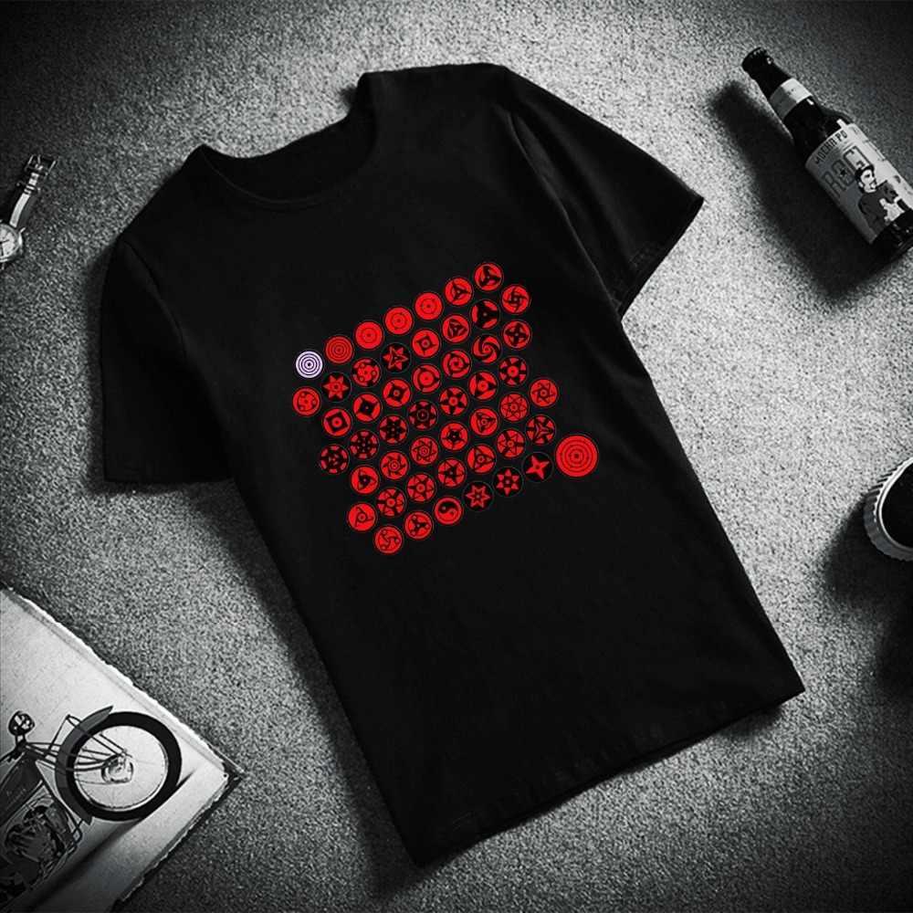 Модная футболка с короткими рукавами Uchiha eyes Itachi Sasuke Hatake Kakashi Naruto с принтом 100% хлопок футболки унисекс