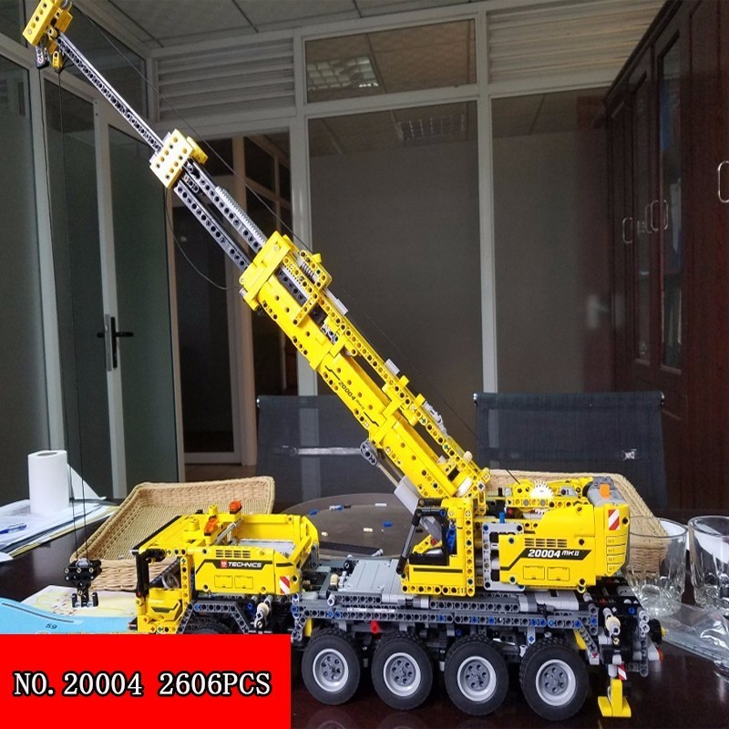 Lepin 2606pcs Science And Technology Of Engineering Column Crane Motor-driven Oxyphylla Assembling Spelling Insert Toys 20004 arboleda hugo model driven and software product line engineering