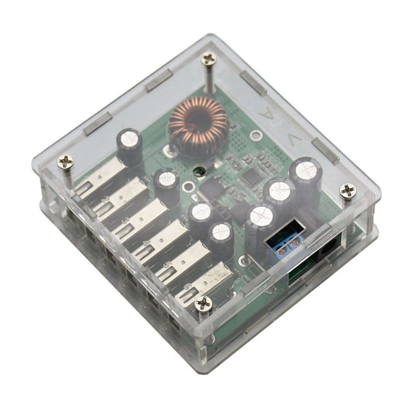 Back To Search Resultsconsumer Electronics Modest Opq-dc10-30v Buck 5v 6 Usb Charger Module Automatic Identification Voltage Spare No Cost At Any Cost