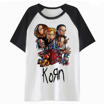 korn t shirt funny men clothing streetwear top harajuku tee tshirt hip male for hop t-shirt PF2561 - discount item  41% OFF Tops & Tees