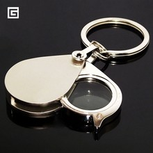 Mini przenośny 10X składany klucz pierścień Lupa z breloczkiem codzienne ręcznie okulary powiększające szkło narzędzie Lupa prezent tanie tanio Realmote Handheld Folding Key Chain Magnifier Brak Other