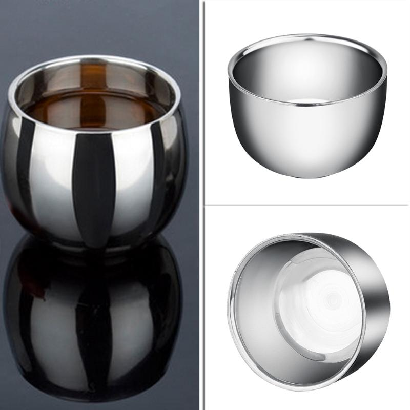 Mini Thickened Mugs Stainless Steel Espresso Coffee Milk Mugs 120200ML Thermo Frothing Pitcher Steaming Frothing Pitcher