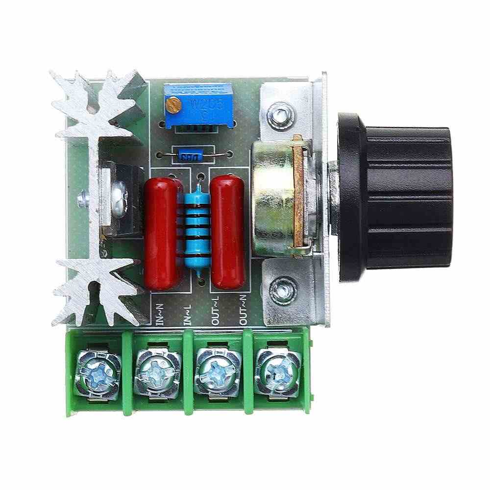CLAITE 2000W Led Thyristor Electronic Dimmer Speed Controller SCR Voltage Regulator Dimming Thermostat for LED Lamp Strip Light
