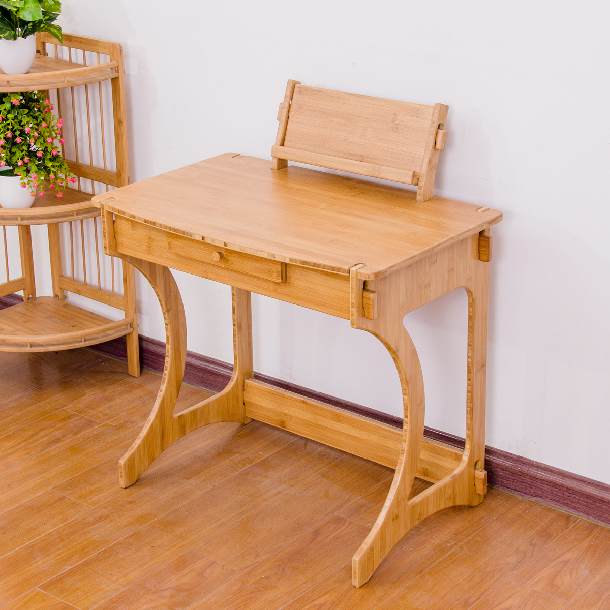 Eco Friendly Screwless Bamboo Wooden Children Kids Study Table Desk