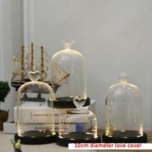 DIY Красота и чудовище красная роза в стеклянном куполе на деревянной основе для подарков Святого Валентина светодиодный лампы с розами Рождество