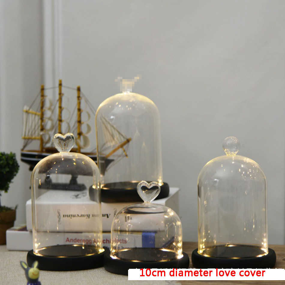 DIY Beauty and the Beast Red Rose in a Glass Dome on a Wooden Base for Valentine's Gifts LED Rose Lamps Christmas