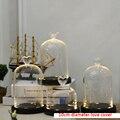 DIY Красавица и Чудовище красная роза в стеклянном куполе на деревянной подставке для подарков на день Святого Валентина светодиодные Розы л...