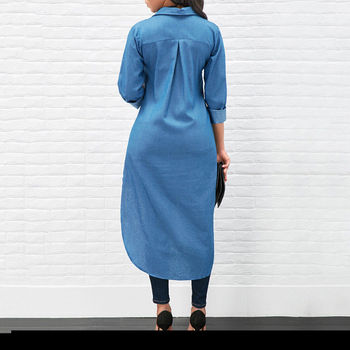 Denim T-Shirt Dress 4