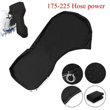 600D Black Full Outboard Engine Boat Cover Up to 175-225 Hose Power Motor Waterproof