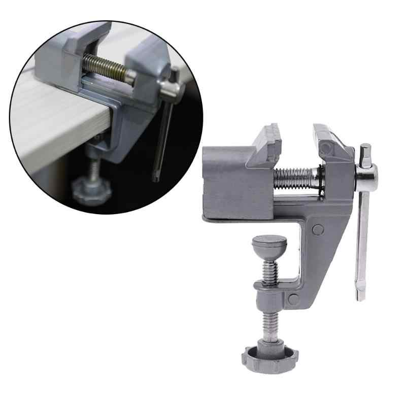 Universal Fixed Repair Tool Mini Bench Clamp Vise Aluminium Alloy Table Screw Vise Bench Screw Vise for Craft Mold electric