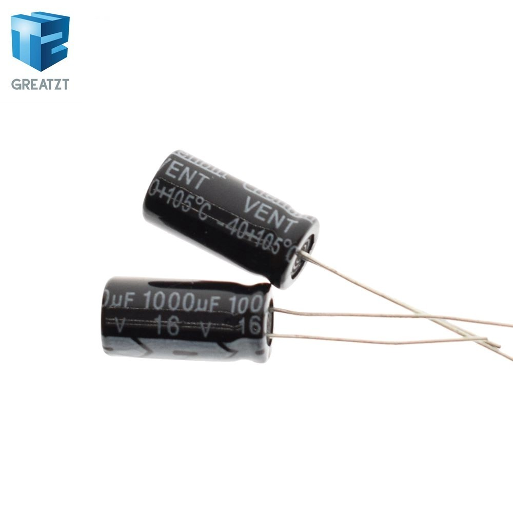 20PCS 1000uF 16V 105C Radial Electrolytic Capacitor 8x16mm 16V1000UF