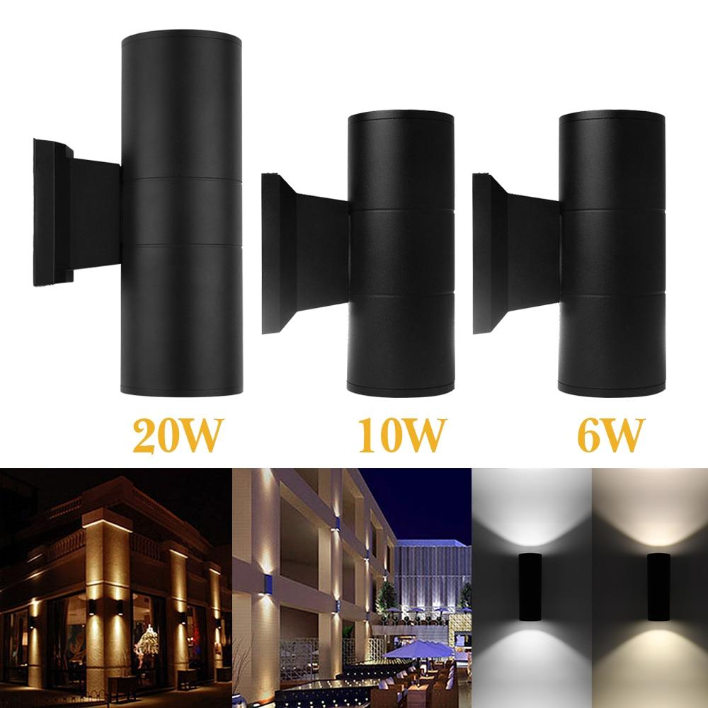 20w Led Wall Light: IP65 AC 85 265V 20W COB LED Wall Light Up And Down Round