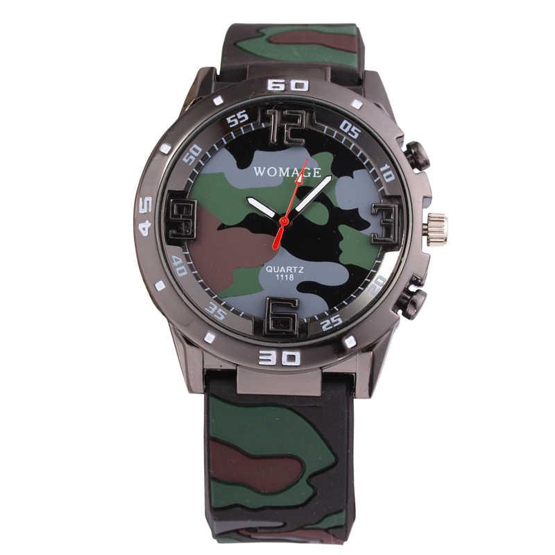 Fashion Camouflage Military Women Men Watches Sport Casual Army Man Ladies  Watch High Quality Quartz Clock 2c83fa375b