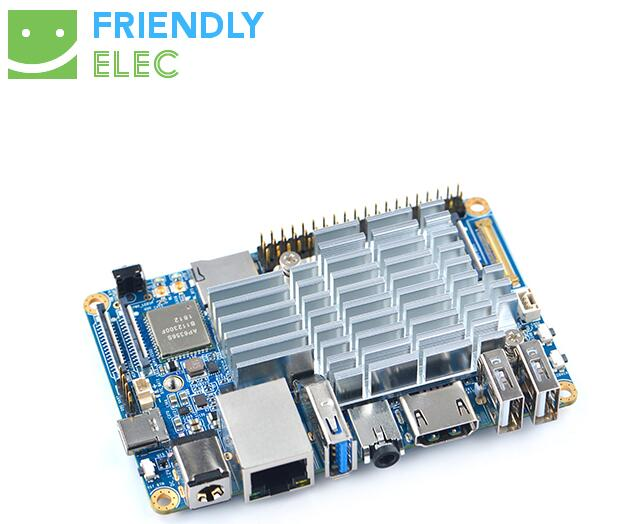 US $129 0 |FriendlyARM NanoPC T4 based on Rockchip RK3399 64bit Cortex A72  Cortex A53 VR AI OpenCV TensorFlow MIPI Dual Camera USB Type C-in