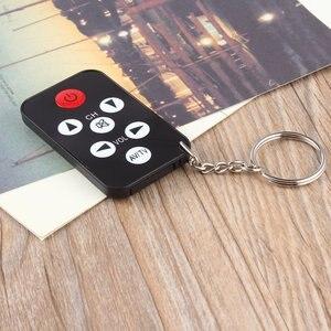 Image 3 - Kebidu מיני אוניברסלי שלט רחוק אינפרא אדום IR טלוויזיה סט 7 מפתחות טלוויזיה 433MHz RF מרחוק בקר Keychain מפתח טבעת בקלות
