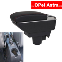For OPel Astra 2011 Car Center Centre Console Storage Central Box Armrest Arm Rest Rotatable Auto Armrests with USB