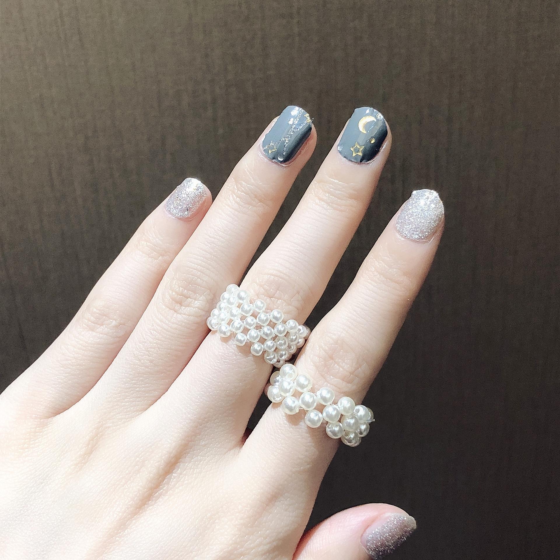 2020 1 Uds elegancia coreana romántica ajustable Mini perlas anillos para mujeres señoras dulce fiesta boda anillos joyas regalos Vestidos infantiles para niñas, vestido bordado de encaje, vestido de boda para niñas pequeñas, vestido de fiesta de cumpleaños, ropa de ceremonia de apertura para niños