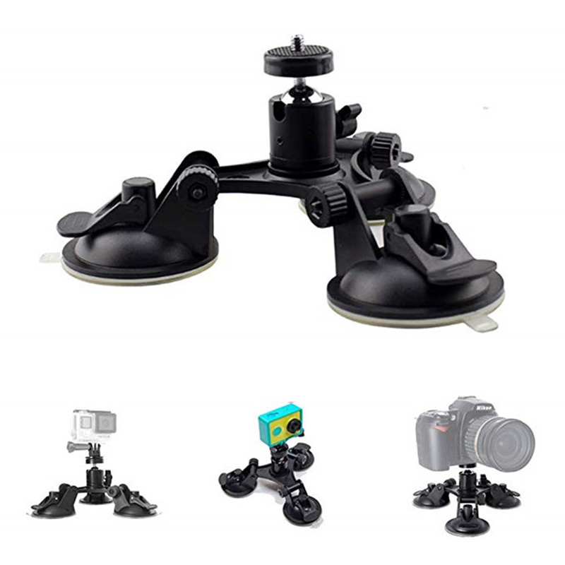 Car Windshield Suction Cup Holder Window Glass Action Camera Tripod Holder Mount For GoPro Hero 6 5 7 4 Session Sjcam H9 Yi 4KCar Windshield Suction Cup Holder Window Glass Action Camera Tripod Holder Mount For GoPro Hero 6 5 7 4 Session Sjcam H9 Yi 4K