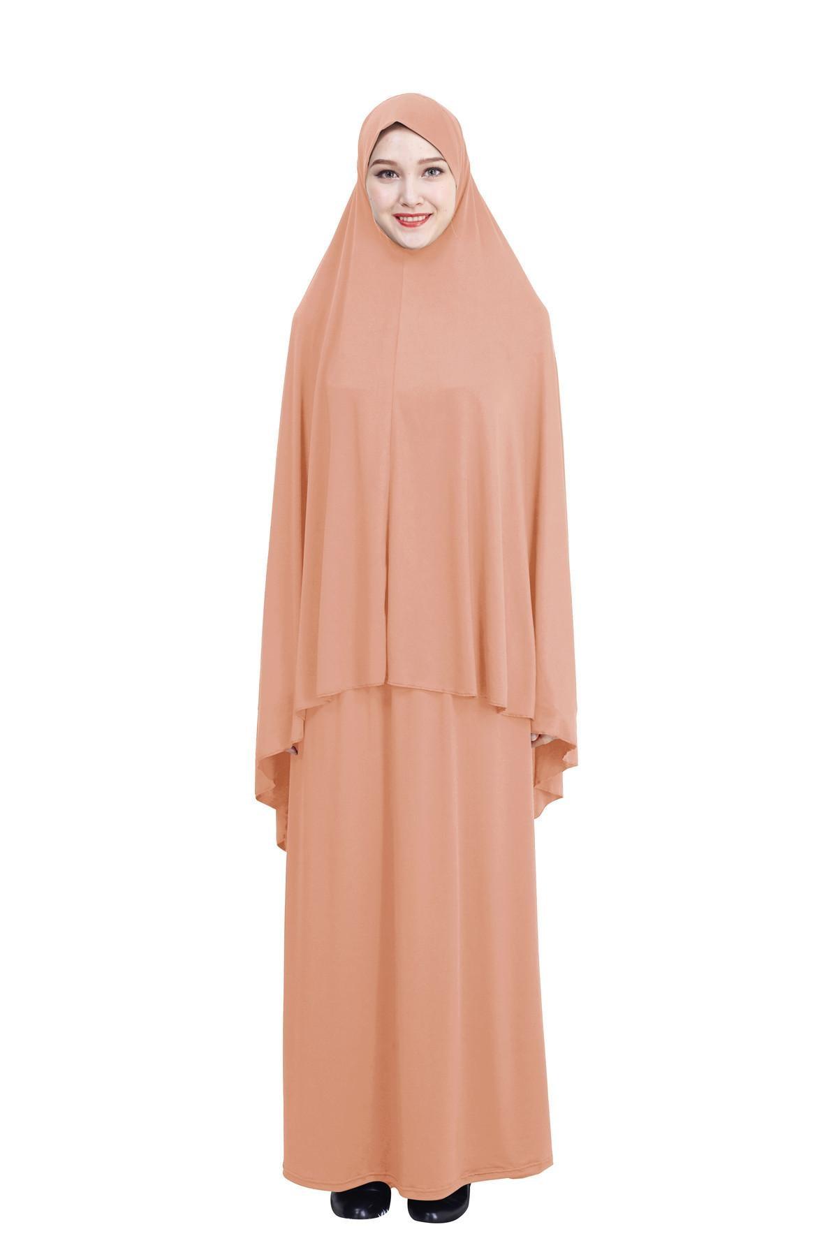 Ramadan Muslim Prayer Garment Islamic Khimar Long Hijab Scarf Jilbab Arab Dress Abaya Middle East Worship Service Full Cover New