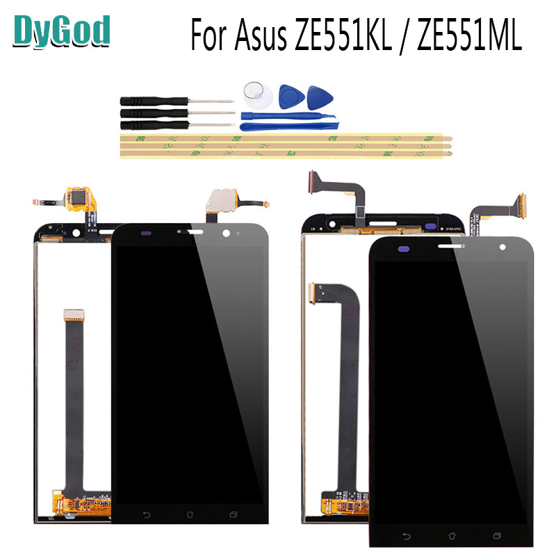 Mobile Phone Parts Dygod 5.5for Asus Zenfone 2 Ze551ml /zenfone 2 Laser Ze551kl Lcd Display Touch Screen Phone Lcds Digitizer Assembly With Tools High Quality And Low Overhead