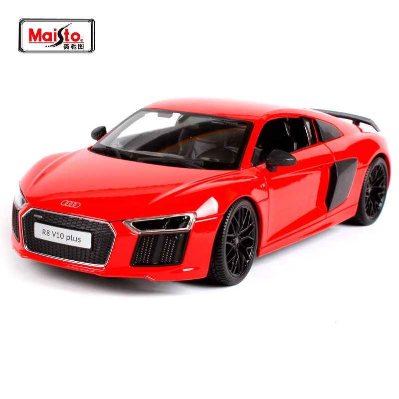 Maisto 1:18 Audi R8 V10 PLUS Sports Car Diecast Model Car Toy New In Box Free Shipping NEW ARRIVAL SLS AMG GT 36196 36213 36204 maisto 1 18 mini cooper sun roof diecast model car toy new in box free shipping 31656
