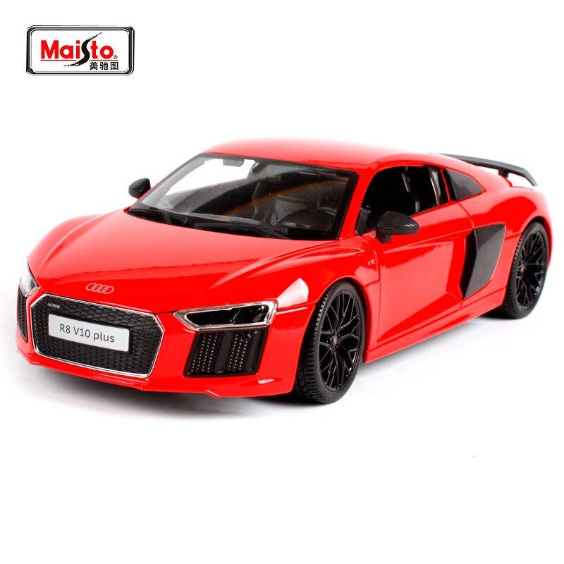 Maisto 1:18 Audi R8 V10 PLUS voiture de sport modèle moulé sous pression jouet de voiture nouveau dans la boîte livraison gratuite nouveauté SLS AMG GT 36196 36213 36204