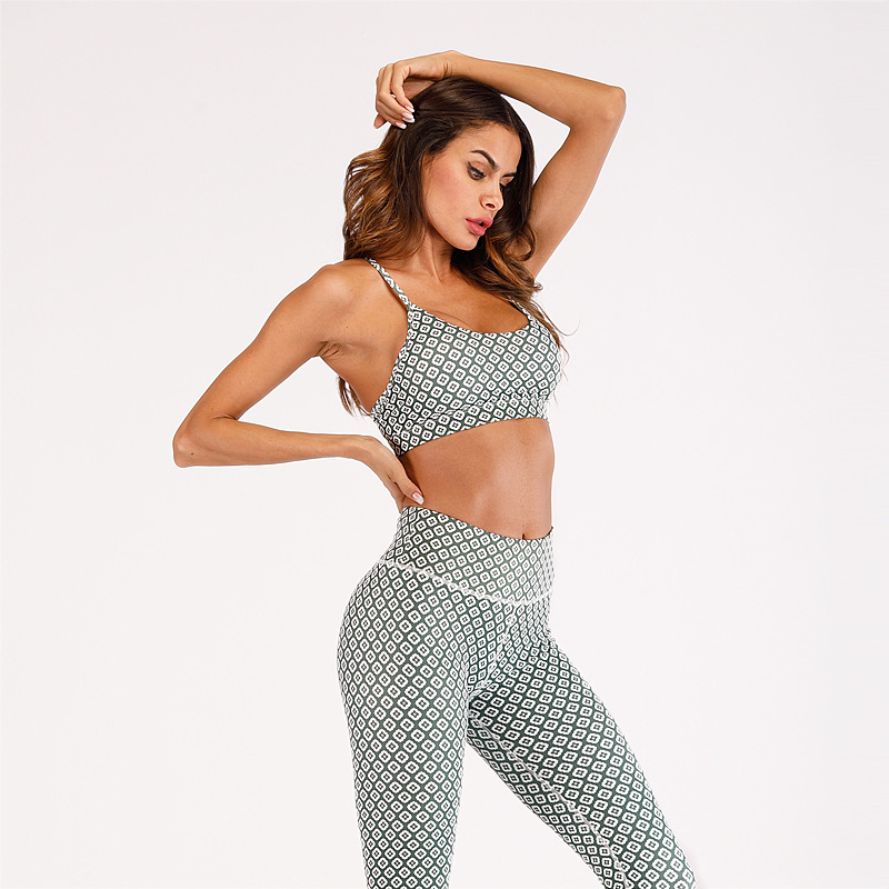 PFFLOOK Print Sexy Two Piece Set High Waist Spaghetti Strap Two Piece Set Top And Pants Backless Women Fashion 2 Piece Outfits