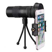 New 10 30x Hunting Optics Telephoto Telescope Monocular Camera Lens+ Cell Phone Clip +Tripod Stand for Outdoor Activities