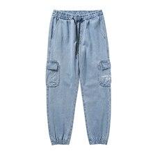 New Arrivals Baggy Homme Classic Style Cargo Pocket Jeans men blue Color Fashion Casual Pants Biker Denim Trousers clothes Sale