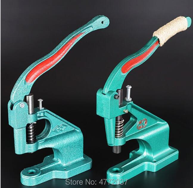 MAGT Grommet Machine 1pc Hand Press Grommet Eyelet Machine with 3 Dies /& 1500pcs Grommets 6//10//12mm