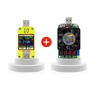 BHTS RD UM34C+LD25 for APP USB 3.0 Type C DC Voltmeter ammeter voltage current meter battery charge measure cable resistance T
