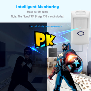 Image 5 - SONOFF PIR2 Wireless Dual Infrared Detector 433Mhz RF PIR Motion Sensor Smart Home Automation Security Alarm System for Alexa