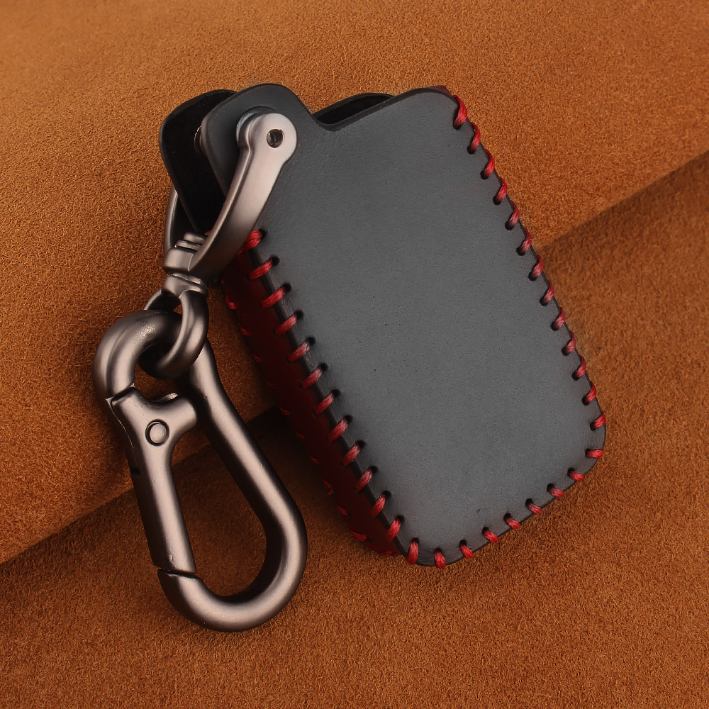 Image 5 - KEYYOU For Toyota Prius Land Cruiser Avalon Prado Leather Car Key Keychain Covers Key Case Bag KeyChain Bag 2/3/4 Buttons-in Key Case for Car from Automobiles & Motorcycles
