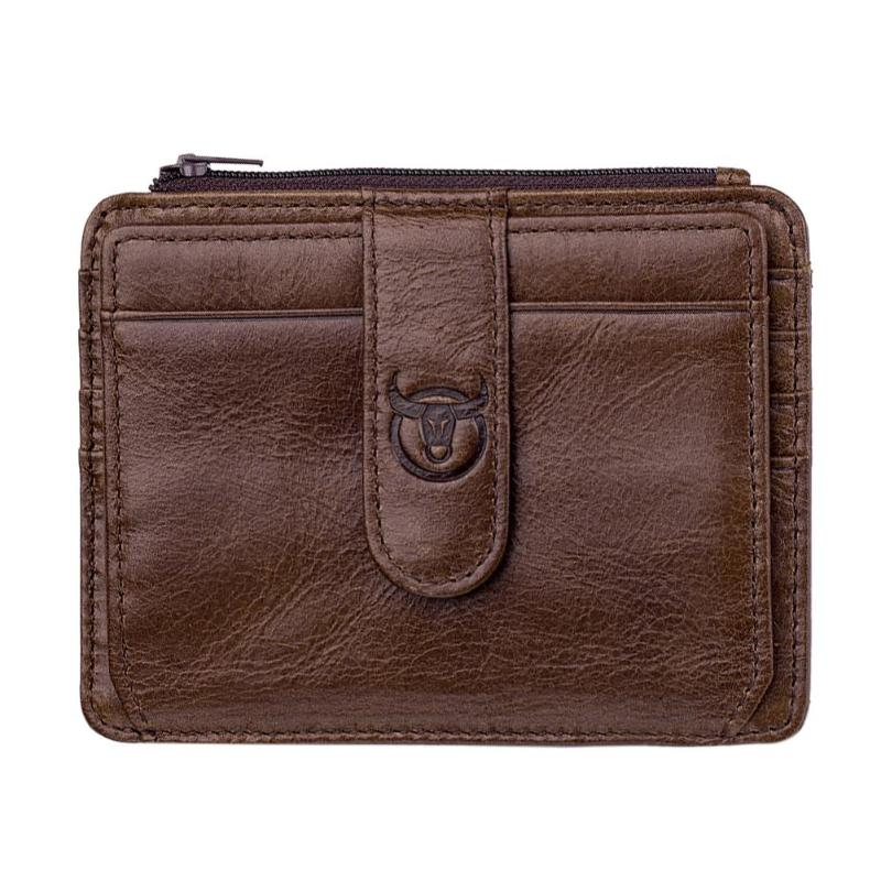 BULLCAPTAIN Men Business RFID Soft Wallet Fashion Male Clutch Leather Coin