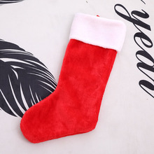 Red Short Fluff High-Grade Christmas Socks Stockings Large Gifts Bags New Year Decorations for Home 2018