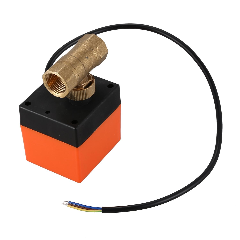 DN15-2 AC220V Electric Actuator Brass Ball Valve Cold Hot Water/Water Vapor/heat Gas 2 Way Brass Motorized Ball Valve Floor