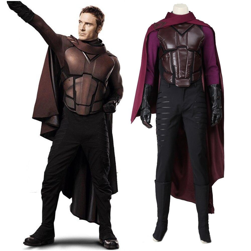 New X-Men Days of Future Past Erik Lehnsherr Magneto Cosplay Costume