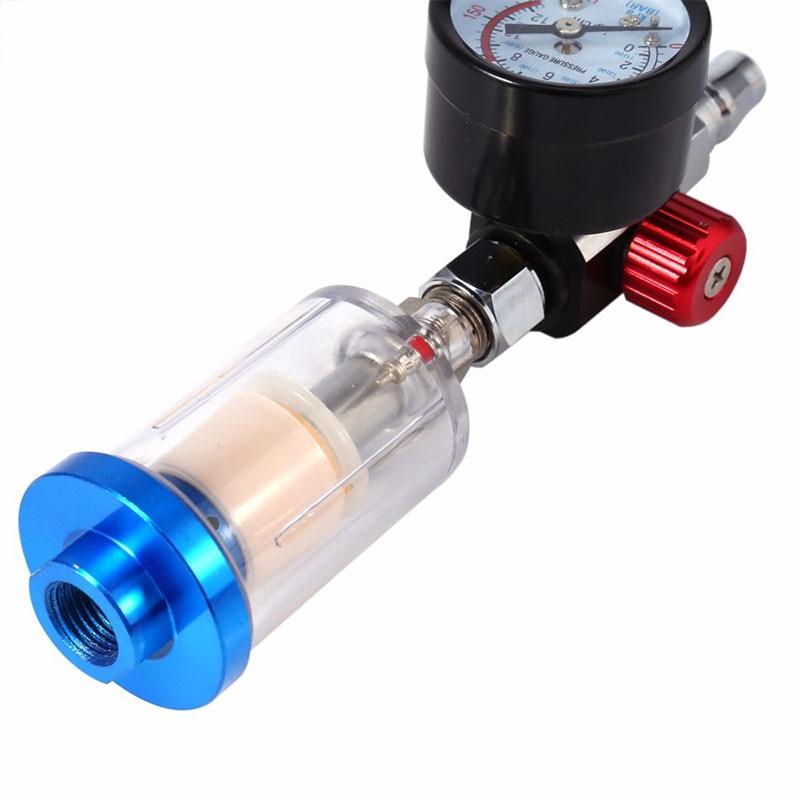 Мм 150 мм Манометр давление распылитель краски пистолет авто краски ing в линии воды Ловушка фильтр