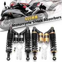 Pair 15.74 Motorcycle Aluminum atv Rear Air for shock absorbers Suspension Damper Round 400mm For Yamaha Motor Scooter ATV