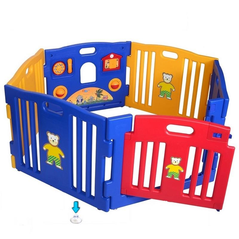 6PCS PE Safe Non-Toxic 156*134*63cm Baby Playpen Play Center Yard For Kids Home Indoor Outdoor 7-10 Days Delivery In US