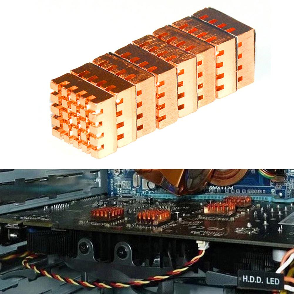 8 teile/satz RHS-03 Reinem Kupfer PC Computer Kühler RAM Kühlkörper Speicher Kühler für DDR DDR2 DDR3 RAM Speicher RHS03