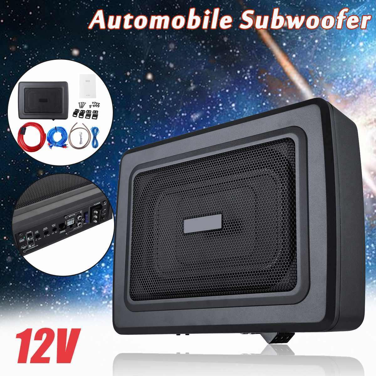12V 600W Ultrathin Car Seat Subwoofer HIFI Speaker Auto Super Bass Automobile Audio Music Stereo Speakers Loudspeaker Amplifier