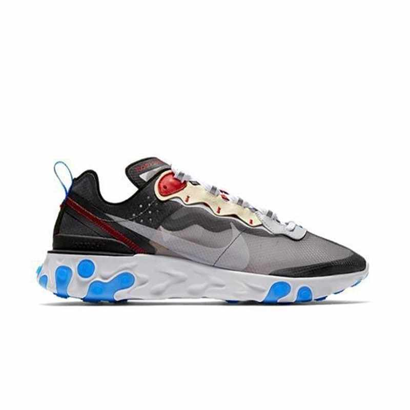 8242f8dc6d41b ... NIKE React Element 87 Original Mens And Womens Running Shoes Mesh Breathable  Sports Sneakers For Men ...