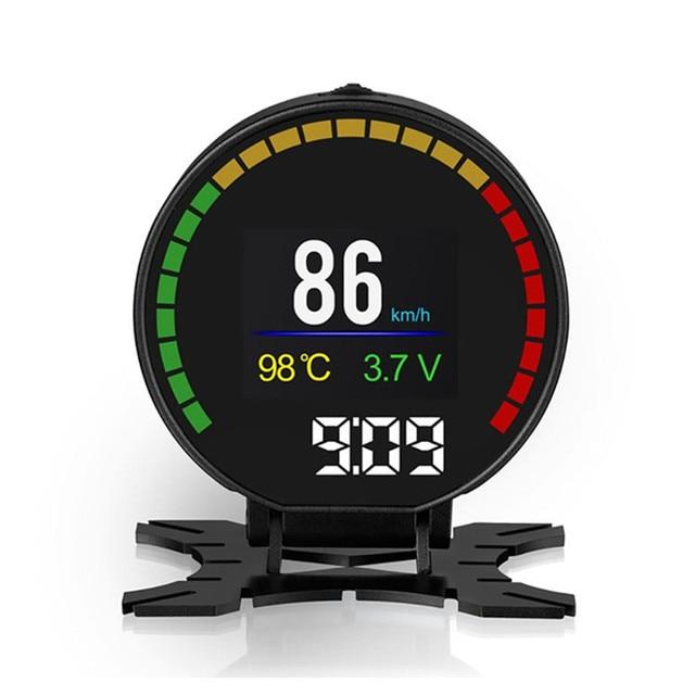 P15 Hd Tft Obd Digitale Snelheid Hud Display Snelheidsmeter OBD2 Turbo Boost Druk Meter Alarm Olie Water Temp Gauge Code reader