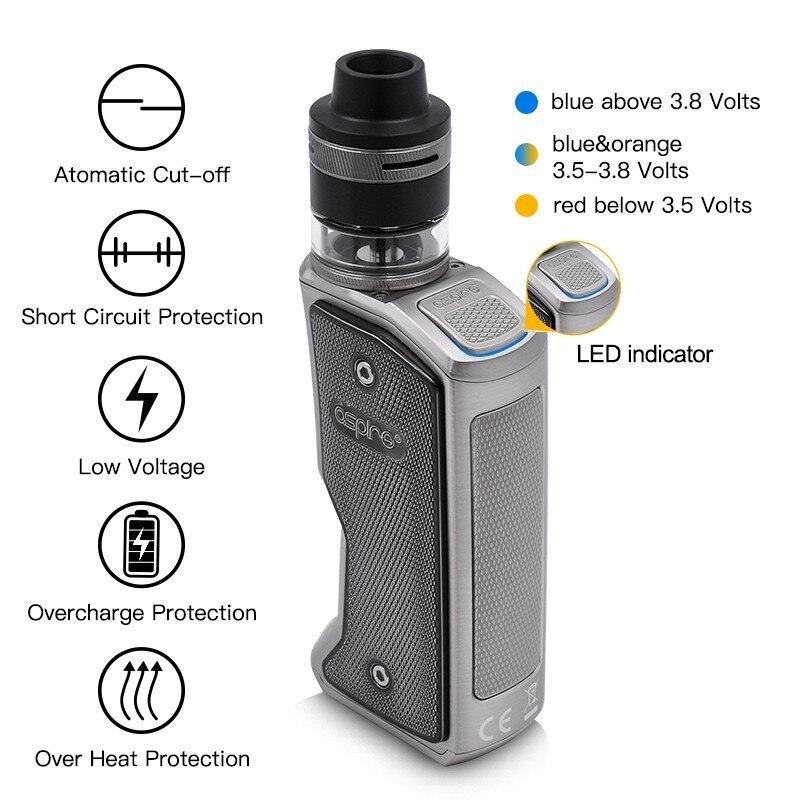 Cigarette électronique Squonk Aspire Feedlink Vape Kit avec 7ML Silicone bouteille 510 Mod et 2ML Revvo Boost réservoir utiliser 18650 batterie - 3