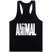 926c395ef29a14 Animal Stringer Bodybuilding Tank Top Solid Gym Singlet Muscle Mens  Racer-back Vest Tee(