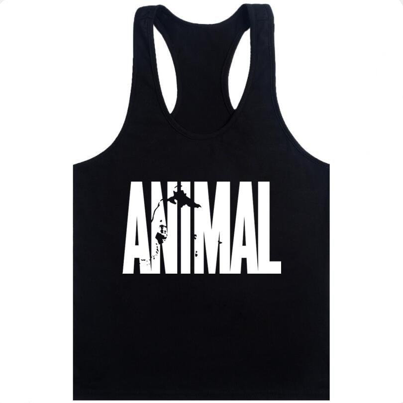 Animal Stringer Bodybuilding   Tank     Top   Solid Gym Singlet Muscle Mens Racer-back Vest Tee
